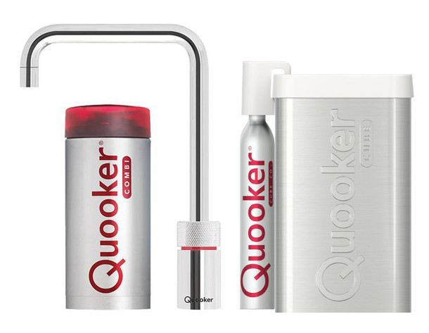 Quooker Nordic Square Single tap Roestvrij staal  Combi+ & cube